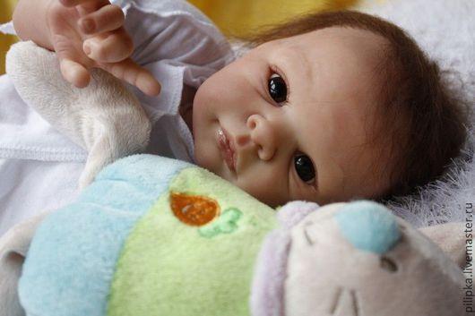Куклы-младенцы и reborn ручной работы. Ярмарка Мастеров - ручная работа. Купить Эрика. Handmade. Бледно-сиреневый, минеральный гранулят