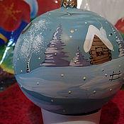Подарки к праздникам ручной работы. Ярмарка Мастеров - ручная работа шар на елку Домик в лесу. Handmade.