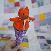 Куклы и игрушки ручной работы. Ярмарка Мастеров - ручная работа Игрушка веселушка. Дергунчик лисичка.. Handmade.