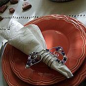Для дома и интерьера ручной работы. Ярмарка Мастеров - ручная работа Кольца для салфеток с сердечками. Handmade.