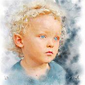 Картины и панно ручной работы. Ярмарка Мастеров - ручная работа Портрет по фото (Эльф). Handmade.