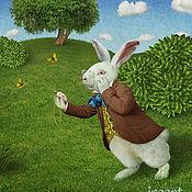 """Картины и панно ручной работы. Ярмарка Мастеров - ручная работа Фотосказка """"Алиса в стране чудес. Белый кролик"""". Handmade."""