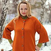 "Одежда handmade. Livemaster - original item Knitted cardigan ""Autumn bronze color"". Handmade."