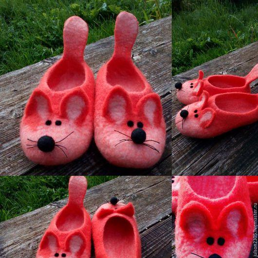 Обувь ручной работы. Ярмарка Мастеров - ручная работа. Купить Валяные тапки лисы. Handmade. Рыжий лис, тапки лисы
