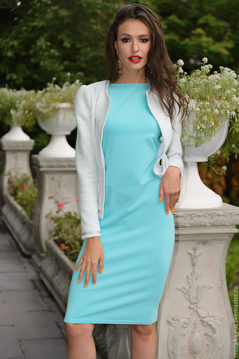 558df11529e Dress turquoise – shop online on Livemaster with shipping - CSFWFCOM ...