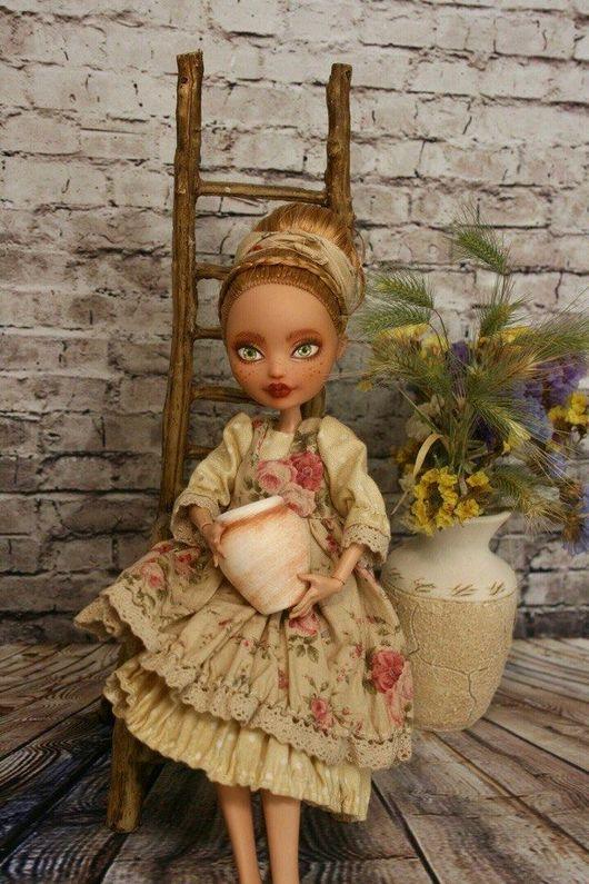 Одежда для кукол ручной работы. Ярмарка Мастеров - ручная работа. Купить Одежда для кукол Monsterhigh. Handmade. Монстер хай, цветы