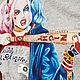 """Футболки, майки ручной работы. Футболка с ручной росписью """"Harley Quinn"""". Наташа Козаченко (Kozachenko). Интернет-магазин Ярмарка Мастеров."""