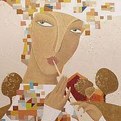 """Картины и панно ручной работы. Ярмарка Мастеров - ручная работа Картина маслом на холсте """"Леди Весна"""". Handmade."""