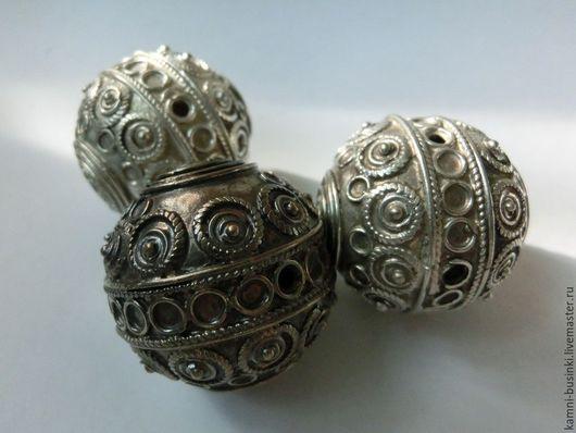 Марокканская 35 мм бусина берберская серебро. Этно бусины, винтаж, антикварные бусины, марокканские бусины и подвески, африканские бусины, предметы для коллекций