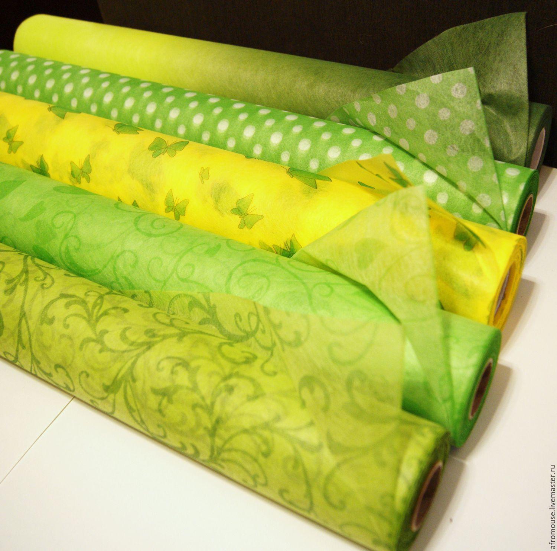 фетр упаковочный флористический  Зеленый