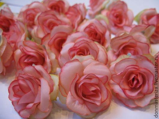 Материалы для флористики ручной работы. Ярмарка Мастеров - ручная работа. Купить Головки роз, розовые. Handmade. Розовый, для топиария