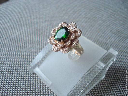 Кольца ручной работы. Ярмарка Мастеров - ручная работа. Купить Коктейльное кольцо. Handmade. Золотой, перстень, украшение, блестящее украшение