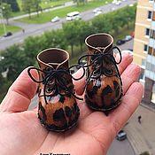 Одежда для кукол ручной работы. Ярмарка Мастеров - ручная работа Сапожки и ботиночки для кукол. Handmade.