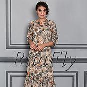 Одежда ручной работы. Ярмарка Мастеров - ручная работа 302: Летнее платье в пол, легкое платье с воланом понизу. Handmade.