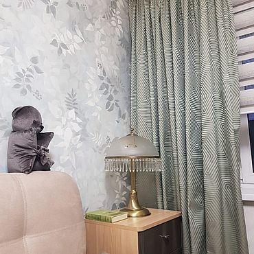 Текстиль ручной работы. Ярмарка Мастеров - ручная работа Шторы: Увлекательная геометрия. Handmade.