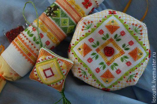 """Вышивка ручной работы. Ярмарка Мастеров - ручная работа. Купить Схема для вышивки """"Солнечный цикл"""" (батончик, бискорню, маячок). Handmade."""