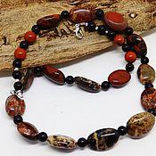 Украшения handmade. Livemaster - original item Beads made of Jasper (Jasper breccia) 50 cm. Handmade.