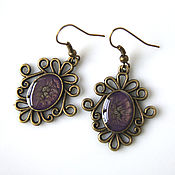 Украшения handmade. Livemaster - original item Earrings purple lavender. Handmade.