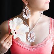 """Свадебный салон ручной работы. Ярмарка Мастеров - ручная работа Комплект """"Розовые мечты"""". Handmade."""