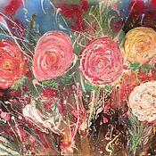 Картины и панно handmade. Livemaster - original item Pink roses. Handmade.