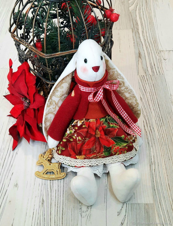 Рождественская зайка Белла, Мягкие игрушки, Санкт-Петербург,  Фото №1