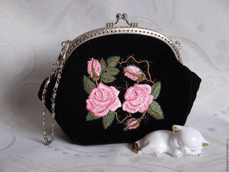 92438723dc33 Женские сумки ручной работы. Ярмарка Мастеров - ручная работа. Купить  Сумочка бархатная с розами ...
