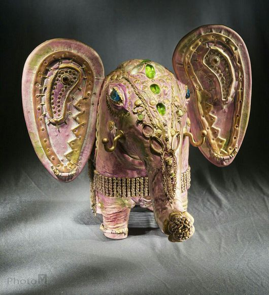 Статуэтки ручной работы. Ярмарка Мастеров - ручная работа. Купить Слон-принцесса. Handmade. Слоник в подарок, слоник, стекло