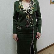 Одежда ручной работы. Ярмарка Мастеров - ручная работа Костюм со вставкой ирландским кружевом. Handmade.