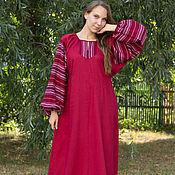 """Одежда ручной работы. Ярмарка Мастеров - ручная работа Платье """"Этно"""" бордовое. Handmade."""