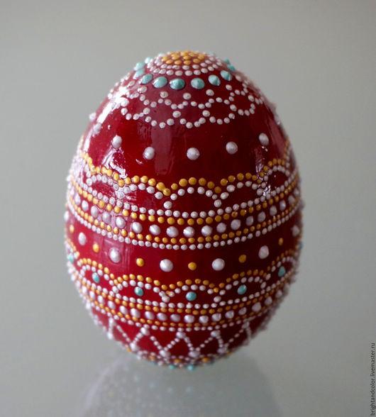 """Яйца ручной работы. Ярмарка Мастеров - ручная работа. Купить Декоративное яйцо """"Ажурное настроение"""". Handmade. Бордовый, пасхальный подарок"""