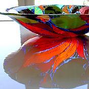 Посуда ручной работы. Ярмарка Мастеров - ручная работа блюдо из стекла, фьюзинг Рыбонька моя. Handmade.