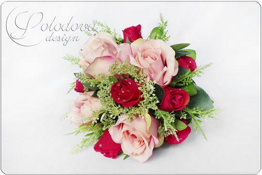 """Букет-дублер """"Париж"""" Букет-дублер розовый-фуксия. Свадебные цветы ручной работы. Свадебные аксессуары -фуксия."""