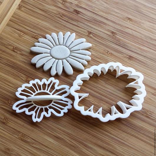 Ромашка (06) Вырубка и штамп для печенья, мастики, пряников, поделок из соленого теста.