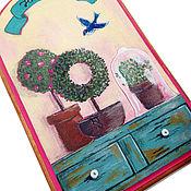 """Картины и панно ручной работы. Ярмарка Мастеров - ручная работа Панно (вешалка, ключница) """"Счастье в дом"""". Handmade."""