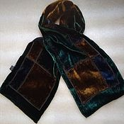 Винтаж handmade. Livemaster - original item Vintage scarf from pan velvet, vintage China. Handmade.