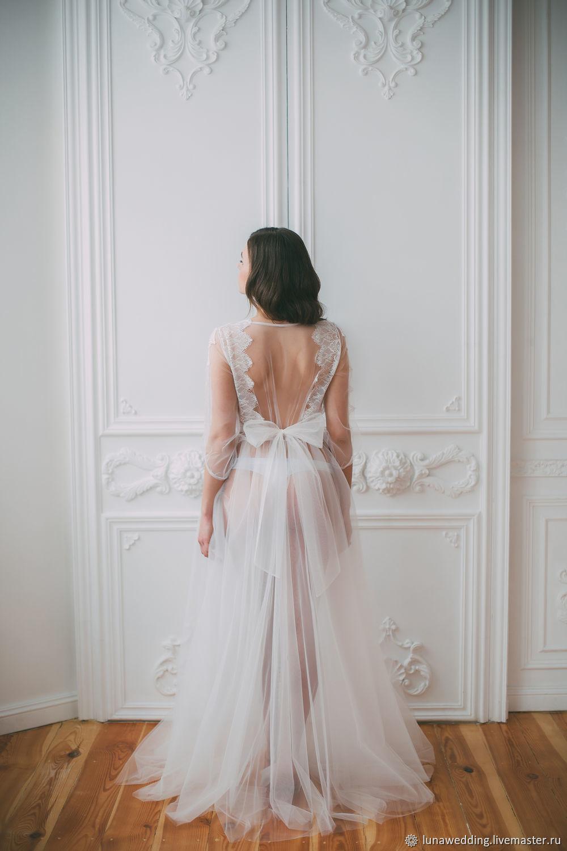 Пеньюар невесты. Будуарное платье с кружевом. Подарок невесте, Пеньюары и белье, Пенза,  Фото №1