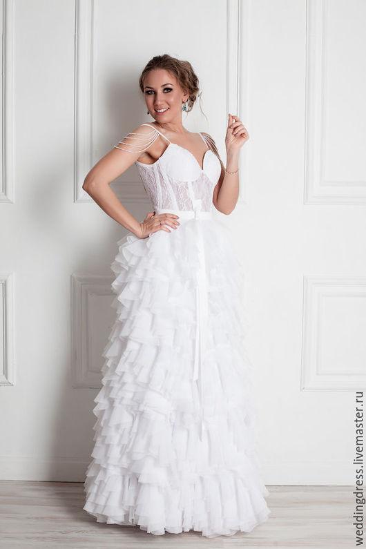 Одежда и аксессуары ручной работы. Ярмарка Мастеров - ручная работа. Купить свадебное платье. Handmade. Белый, свадебное платье, невеста