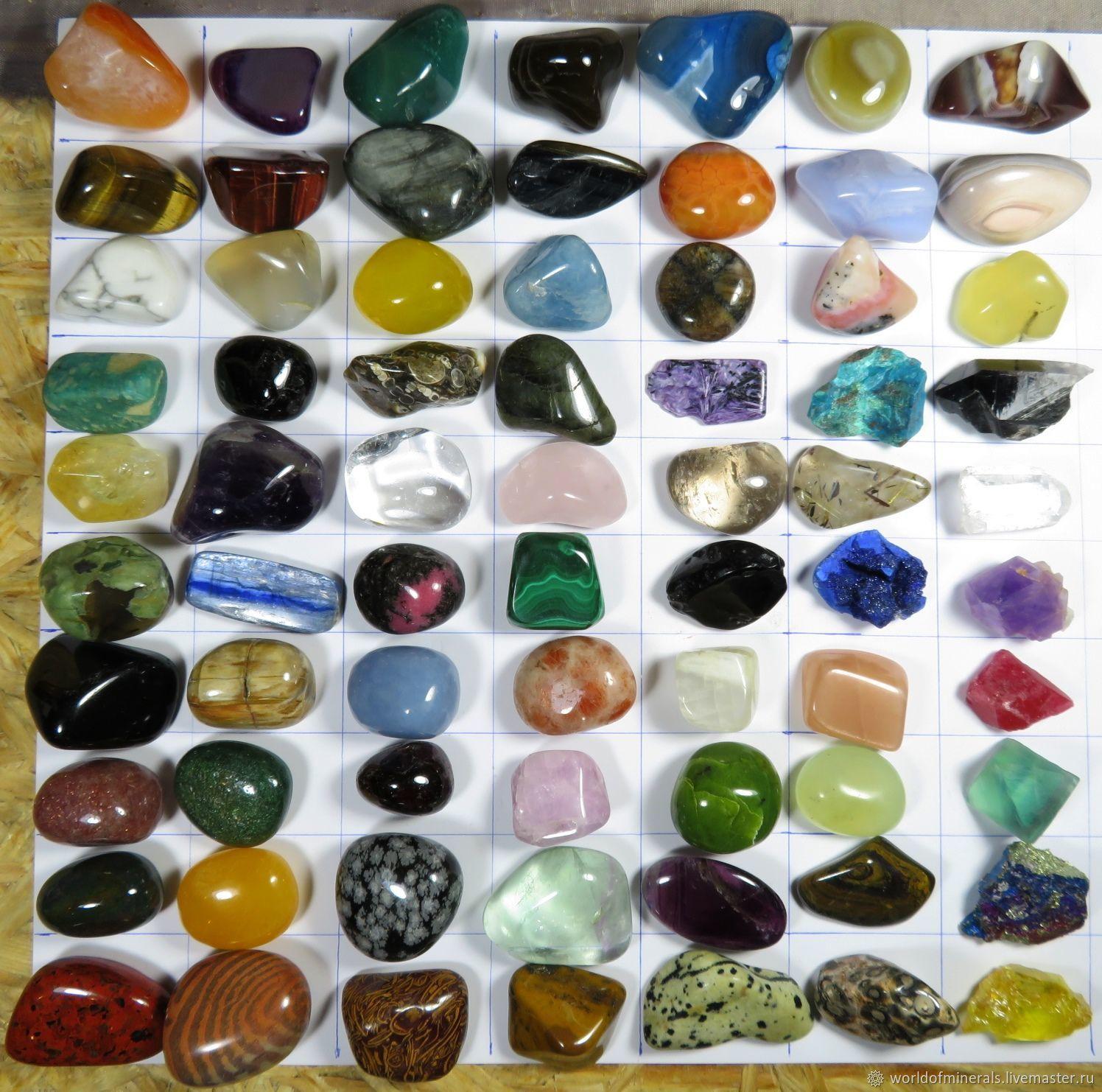 Для примера. Коллекция из 70 камней. Цена 4855 руб. Ячейка 3х2 см.