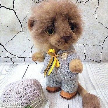 Куклы и игрушки ручной работы. Ярмарка Мастеров - ручная работа Тедди Зверята: львенок Леша. Handmade.