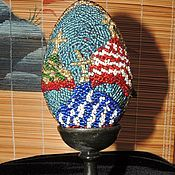 Сувениры и подарки handmade. Livemaster - original item Easter egg on stand. Large. blue No. №2. Handmade.
