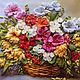 Картины цветов ручной работы. Ярмарка Мастеров - ручная работа. Купить Картина лентами Осенний букет 30 х 40 см. Handmade.