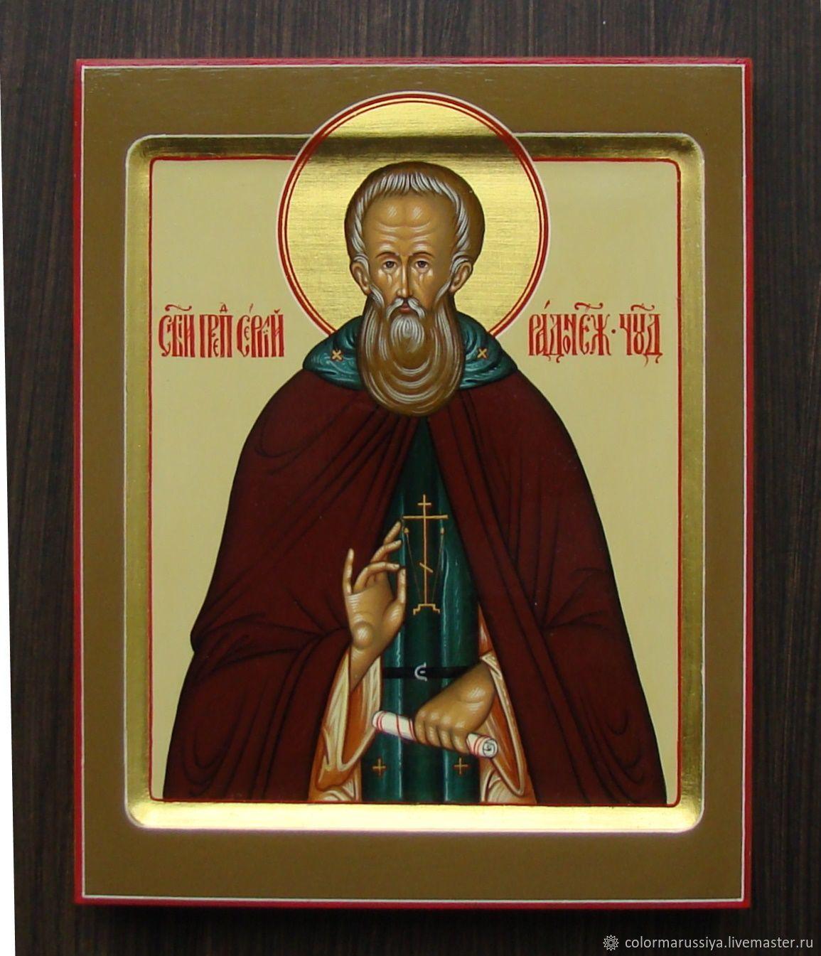 Icon of St. Sergius of Radonezh (handwritten), Icons, Vyazniki,  Фото №1