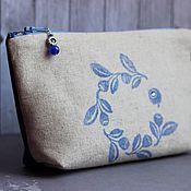Сумки и аксессуары handmade. Livemaster - original item Cosmetic Bag Blueberry. Handmade.