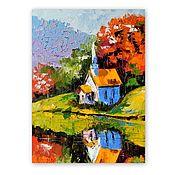 Картины и панно handmade. Livemaster - original item Oil painting Autumn landscape. Handmade.