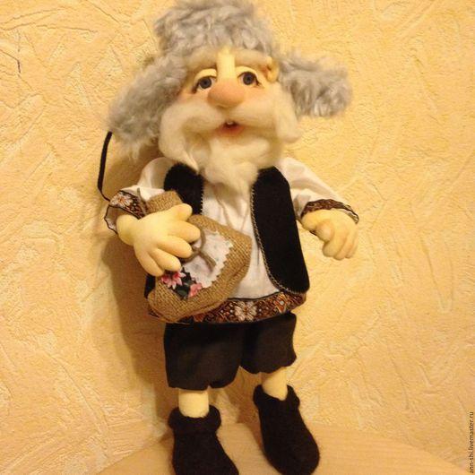 Коллекционные куклы ручной работы. Ярмарка Мастеров - ручная работа. Купить Домовенок (нашел свой дом). Handmade. Комбинированный, текстильная кукла