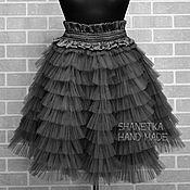 Одежда ручной работы. Ярмарка Мастеров - ручная работа Фатиновая юбка с рюшами воланами для взрослых. Handmade.