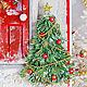 """Новогодняя открытка """"Новый год на пороге"""" (с новым годом). Открытки. Юля Шутегова (elfulka). Ярмарка Мастеров.  Фото №4"""