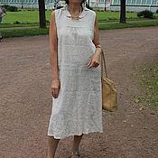Одежда ручной работы. Ярмарка Мастеров - ручная работа Платье льняное Мэри. Handmade.