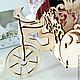 Кухня ручной работы. Велосипед - конфетница с орнаментом. Деревяшки. Ярмарка Мастеров. Велосипед из дерева, велосипед для творчества, велосипед для декора