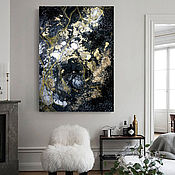 Картины и панно handmade. Livemaster - original item Modern interior painting abstraction Black moon. Handmade.
